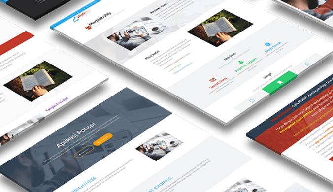 template landing page salespro